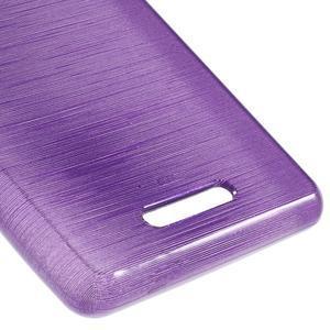 Brushed gélový obal pre mobil Sony Xperia E3 - fialový - 5
