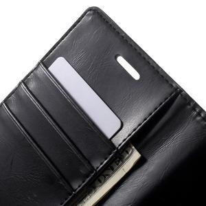 Moon PU kožené puzdro pre mobil Sony Xperia M4 Aqua - čierne - 5