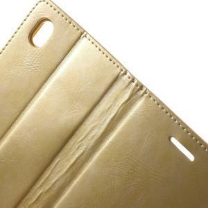 Moon PU kožené pouzdro na mobil Sony Xperia M4 Aqua - zlaté - 5