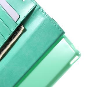 Moon PU kožené puzdro pre mobil Sony Xperia M4 Aqua - azurové - 5