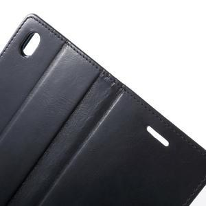 Moon PU kožené pouzdro na mobil Sony Xperia M4 Aqua - tmavěmodré - 5