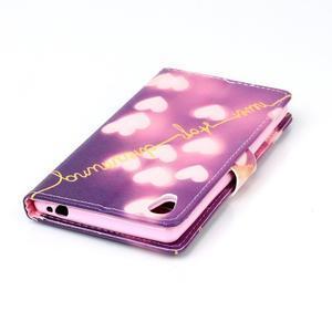 Emotive pouzdro na mobil Sony Xperia M4 Aqua - srdíčka - 5
