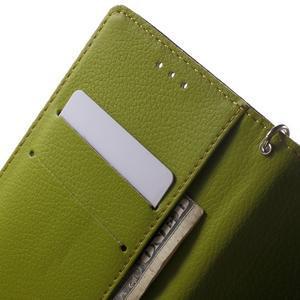 Leaf PU kožené puzdro pre mobil Sony Xperia M4 Aqua - hnedé - 5