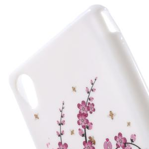 Emotive gélový obal pre Sony Xperia M4 Aqua - kvitnúce vetvička - 5