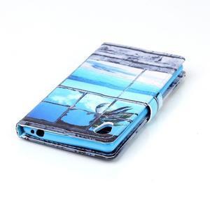 Emotive pouzdro na mobil Sony Xperia M4 Aqua - plážová scenérie - 5