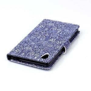 Emotive puzdro pre mobil Sony Xperia M4 Aqua - retro kvety - 5