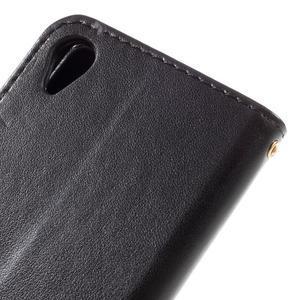 Butterfly PU kožené pouzdro na Sony Xperia X - černé - 5