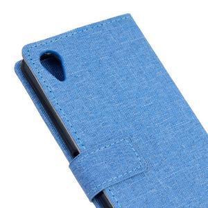 Texture pouzdro na mobil Sony Xperia X - modré - 5
