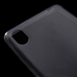 Ultratenký 0.5 mm gélový obal pre Sony Xperia X - sivý - 5