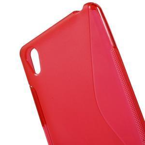 S-line gelový obal na Sony Xperia X - červený - 5