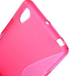 S-line gélový obal pre Sony Xperia X - rose - 5