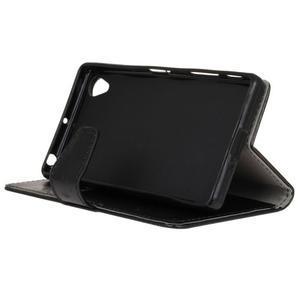 Horse PU kožené puzdro pre Sony Xperia X - čierne - 5