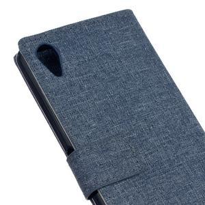Texture puzdro pre mobil Sony Xperia X - tmavomodré - 5