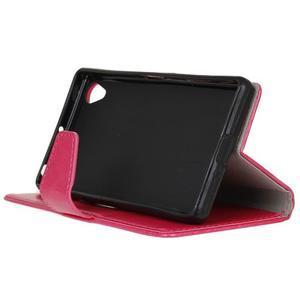 Horse PU kožené pouzdro na Sony Xperia X - rose - 5