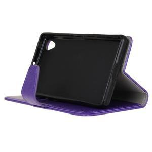Horse PU kožené pouzdro na Sony Xperia X - fialové - 5