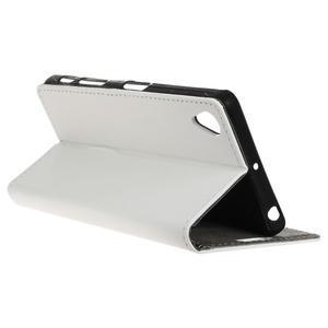 Walle peněženkové pouzdro na Sony Xperia X - bílé - 5