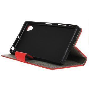 Walle peněženkové pouzdro na Sony Xperia X - červené - 5