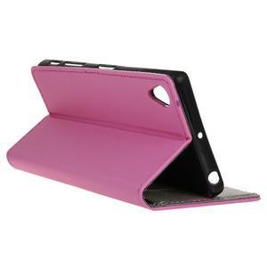 Walle Peňaženkové puzdro pre Sony Xperia X - ružové - 5