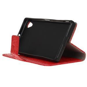 Cartoo Peňaženkové puzdro pre Sony Xperia X - červené - 5