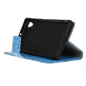 Cartoo Peňaženkové puzdro pre Sony Xperia X - modré - 5