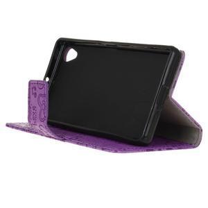 Cartoo peněženkové pouzdro na Sony Xperia X - fialové - 5