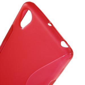 S-line gelový obal na mobil Sony Xperia X Performance - červený - 5
