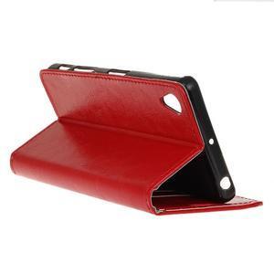 Horse Peňaženkové puzdro pre Sony Xperia X Performance - červené - 5