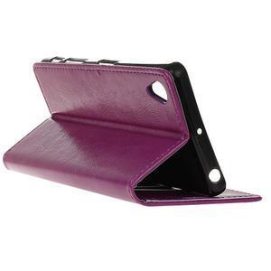 Horse peněženkové pouzdro na Sony Xperia X Performance - fialové - 5