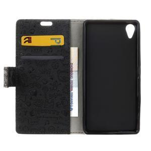 Cartoo peňaženkové puzdro pre Sony Xperia X Performance - čierne - 5