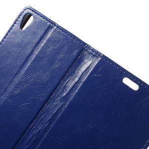 Horse PU kožené pouzdro na mobil Sony Xperia XA - modré - 5