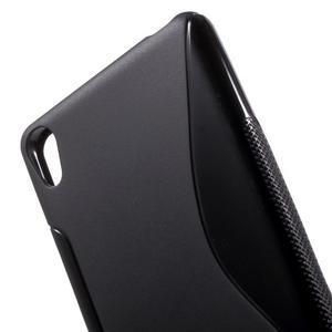 S-line gélový obal pre mobil Sony Xperia XA - čierny - 5