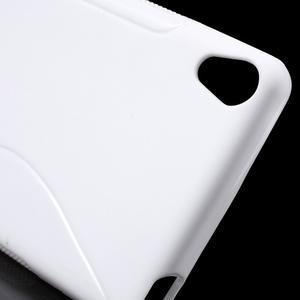 S-line gélový obal pre mobil Sony Xperia XA - biely - 5