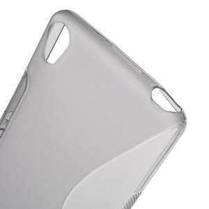 S-line gélový obal pre mobil Sony Xperia XA - sivý - 5