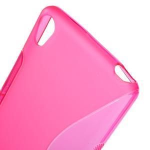 S-line gelový obal na mobil Sony Xperia XA - rose - 5