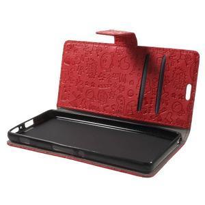 Cartoo Peňaženkové puzdro pre mobil Sony Xperia XA - červené - 5