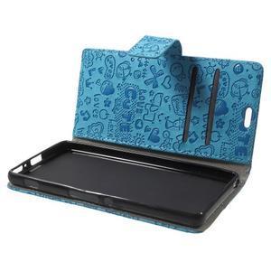 Cartoo peněženkové pouzdro na mobil Sony Xperia XA - modré - 5