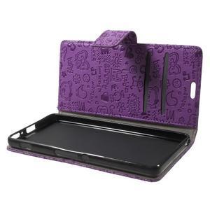 Cartoo Peňaženkové puzdro pre mobil Sony Xperia XA - fialové - 5