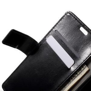 Horse PU kožené puzdro pre mobil Sony Xperia XA - čierne - 5
