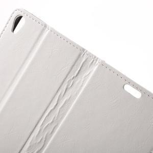 Horse PU kožené puzdro pre mobil Sony Xperia XA - biele - 5