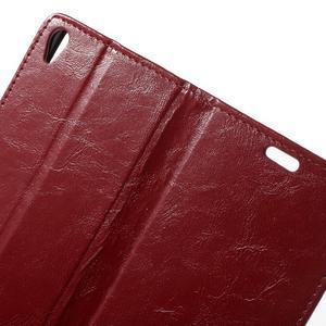 Horse PU kožené pouzdro na mobil Sony Xperia XA - červené - 5