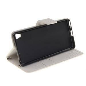 Dandely PU kožené puzdro pre mobil Sony Xperia XA - biele - 5