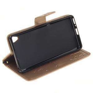 Dandely PU kožené pouzdro na mobil Sony Xperia XA - zlaté - 5