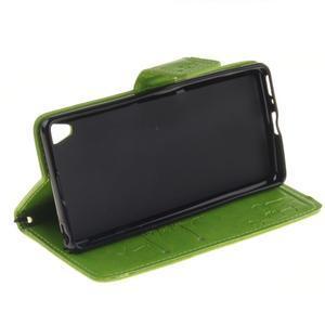 Dandely PU kožené puzdro pre mobil Sony Xperia XA - zelené - 5