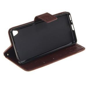 Dandely PU kožené puzdro pre mobil Sony Xperia XA - hnedé - 5