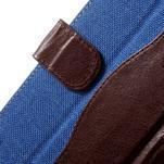 Jeansy PU kožené/textilné puzdro pre Sony Xperia XA - modré - 5/7