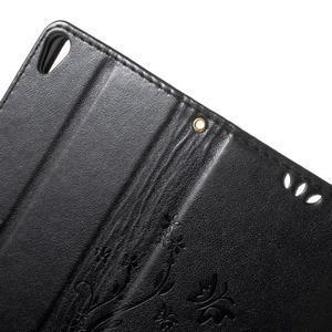Butterfly pouzdro na mobil Sony Xperia XA - černé - 5