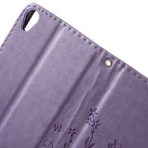 Butterfly puzdro pre mobil Sony Xperia XA - fialové - 5