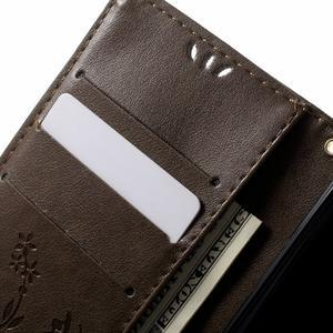 Butterfly pouzdro na mobil Sony Xperia XA - coffee - 5