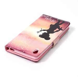 Emotive PU kožené knížkové puzdro pre Sony Xperia XA - želaj si niečo - 5