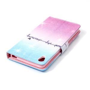 Emotive PU kožené knížkové puzdro pre Sony Xperia XA - neprestávaj snívať - 5